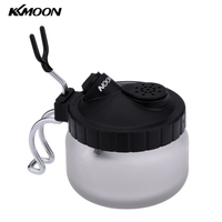 KKmoon Professional Airbrush Cleaning Pot Glass Spray Gun Holder Clean Paint Jar Bottle Manicures Tattoo Supply