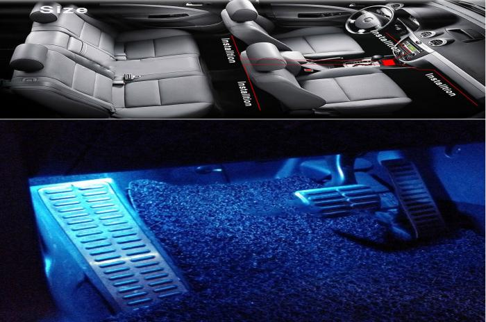 Auto rgb 5050 glow kit striscia di led per interni auto atmosfera di