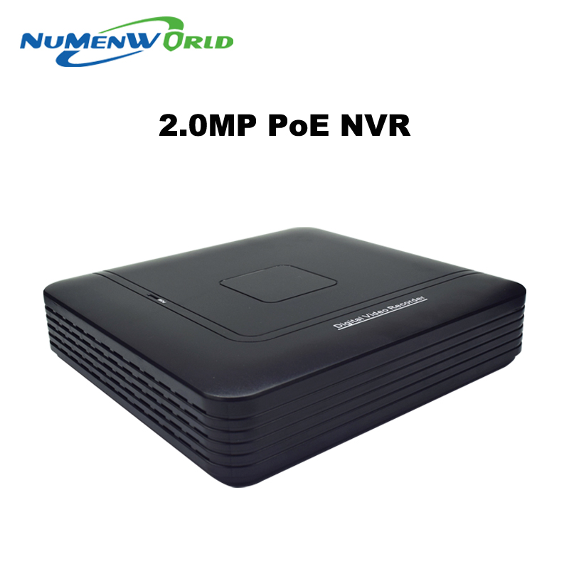 ФОТО DC48V P2P 4CH POE Mini NVR Manufacturer Real Time Recording 4CH Support POE ONVIF For POE HD IP Camera with 4 Independent PoE