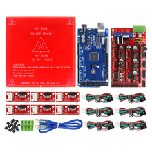 CNC 3D Printer Kit Mega 2560 R3 Development Board + RAMPS 1.4 Controller + Heated Bed MK2B + 6x Limit Switch Endstop
