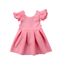 Baby Girl Tops Bow Dresses Kids Lace Ball Gown Tutu Party Dress