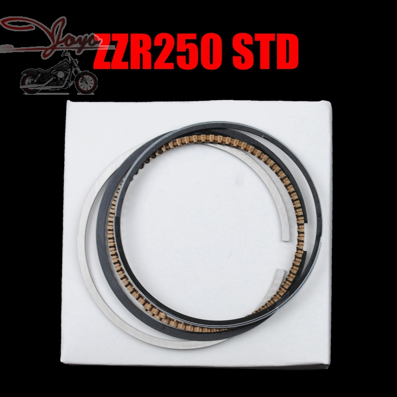 Brand New Motorcycle <font><b>Piston</b></font> Rings Set For KAWASAKI ZZR250 EX250 GPZ250 GPX250 KLE250 STD Standard Bore Size <font><b>62mm</b></font> image