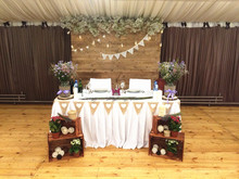 Rustic Hessian Garland and Lace bunting