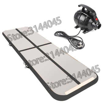 Inflatable Gymnastics Tumbling Mat Air Tumbling Track /Electric Pump Air Floor Mat for Home Use/Cheerleading/Beach/Park or Water