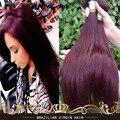 Бразильские Волосы Девственницы Прямо 99J Красный Бордовый Бразильские Волосы 2/3/4 Шт. Лот Бразильский Волос Weave Связки Tissage Bresilienne