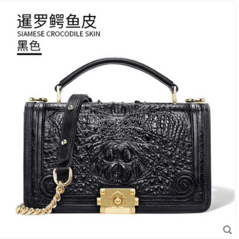gete 2019 new New Thai crocodile leather handbag for lady. Small leather perfume single shoulder bag crocodile cross-body baggete 2019 new New Thai crocodile leather handbag for lady. Small leather perfume single shoulder bag crocodile cross-body bag