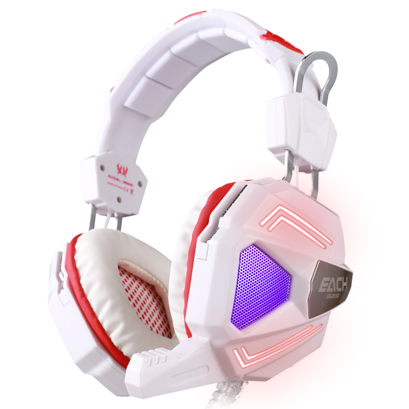 ФОТО High quality EACH G5200 Deep Bass Gaming Headset Earphone Headband Stereo Headphones with Mic LED Light for PC Gamer