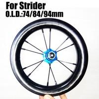 For strider 12' BMX Wheelset BMX Carbon Wheels 30mm Depth 25mm Width Tubless Full Carbon 3K / UD 6 Colours Hubs