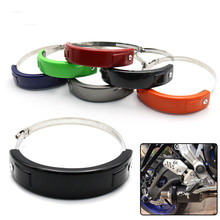 Motorcycle exhaust pipe anti-fall ring glue 100-160mm modified universal