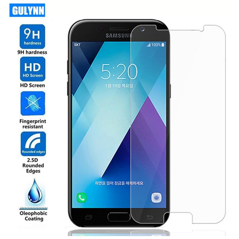 ON SALE 9 H Memperkuat Pelindung Layar Film Untuk Samsung A3 A5 A7 A6 - Aksesori dan suku cadang ponsel - Foto 6