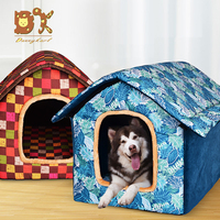 DannyKarl Plus Size Dog Bed Hawaiian Style Warm Pet Bed Mat Dogs Single Print Rooms Big Dogs Houses Small Dog kennel Cat kennels