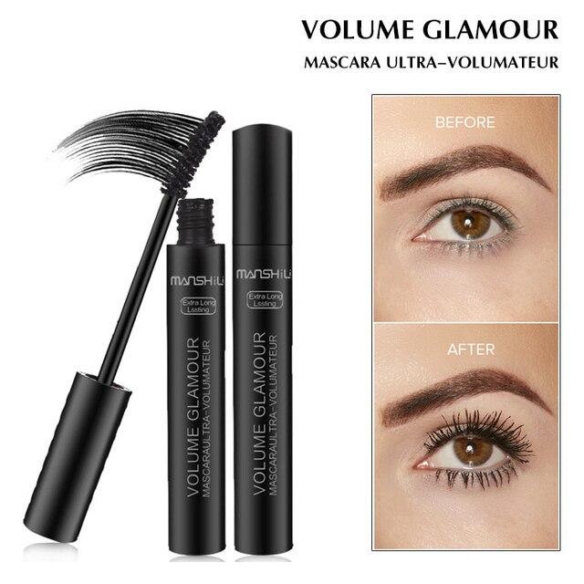 8ff6334a4ee Volume Glamour Mascara Long Lasting Curve Lengthening Thick Black Ink  Waterproof Mascara Eyes Makeup