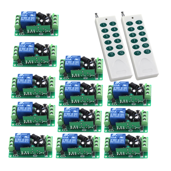 New Arrival Digital Remote Control Switch/ Home Light Switch Smart Control Learning Code 12 Keys Remote 315/433mhz