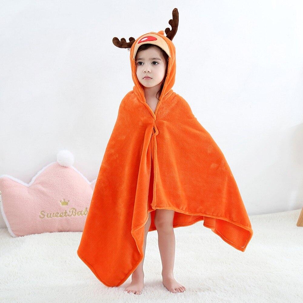 Baby Animal Cartoon Hooded Towel Beach Bath Robes Soft Children Poncho Towels Bathing Suit Towel For Boys Girls Kids Bathrobe 10