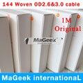 Genuine original od 3.0mm 1 m 8pin usb data sync charger cable para 5 5S 6 6 s 7 7 Plus Com Caixa de varejo 10 pçs/lote frete grátis