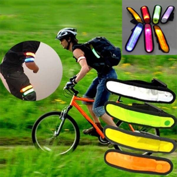 Ремешок Браслет LED Детская безопасность отражающие свет блеск flash светящиеся световой повязки рука ремень Группа Опоры для запястья ...
