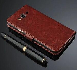 Image 1 - Чехол для Samsung Galaxy J5 J500 J7 J700 2015, роскошный флип кошелек, Кожаные чехлы в стиле ретро для Samsung J5 J7 2015 2016 J510 J710, чехол