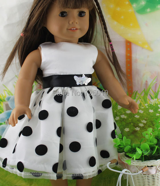 Free shipping hot 2014 new style Popular 18 American girl doll clothes dress b34