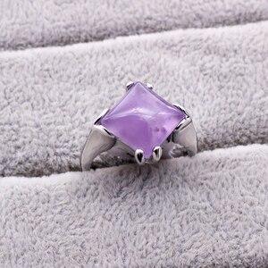 Image 2 - 20 ピース/ロット混合スタイルナチュラル紫水晶石リング 2018 新ファッション女性のジュエリー