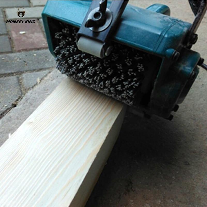 100*120*13mm Abrasives Wire Brush Wheel For 9741 Sander P80-P600 Wooden Furniture Polishing Grinding Tool