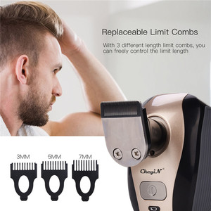Image 5 - 5 in 1 Rechargeable Electric Shaver Five Floating Heads Razors Hair Clipper Nose Ear Hair Trimmer Men Facial Cleaning Brush