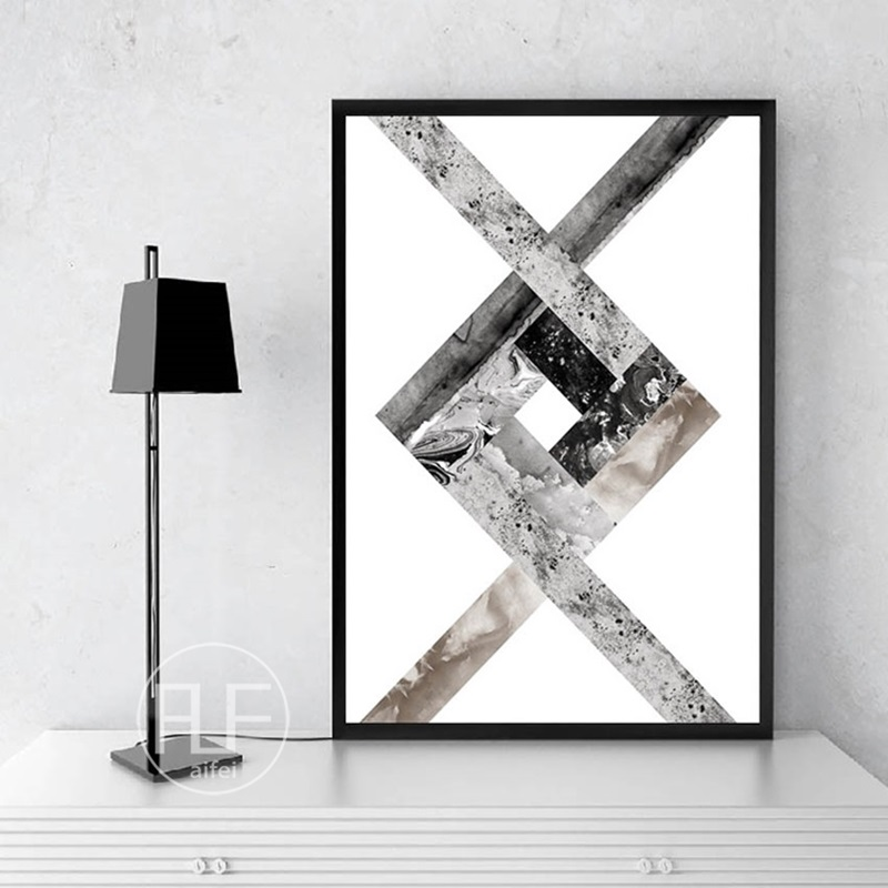 HTB1HXQgXLBj uVjSZFpq6A0SXXaW Abstract Geometric Canvas Painting Black and White Nordic Posters and Prints Wall Art Picture for Living Room Decor No Frame