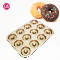 Donuts Mold Pan Carbon Steel Baking Bun Trays Mould Loaf Baking Pans Dish Baguette Non Stick Confectionery Tools Donuts Bakeware