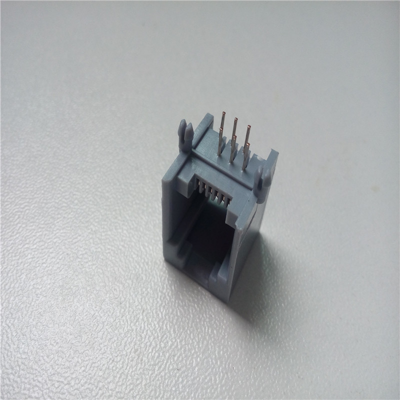 100pcs RJ11 socket gray 6P6C RJ12 phone jack 90 degree 6 core ... on cat5 jack wiring diagram, 3.5mm jack wiring diagram, t568b jack wiring diagram, cat 5e jack wiring diagram,