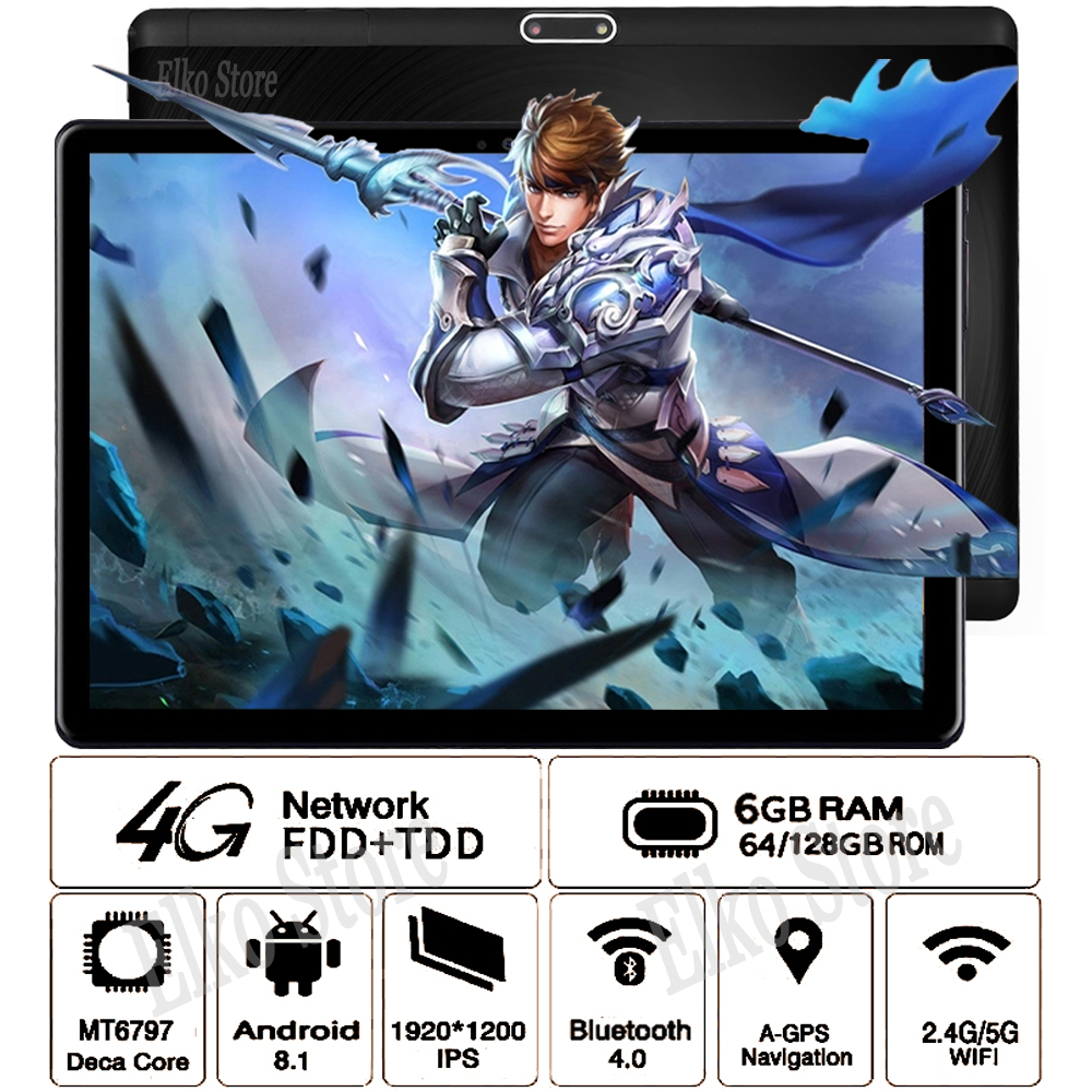10inch Tablet Glass Gifts Wifi 128GB-ROM Global-Version Android 8.1 Dhl Free Deca-Core