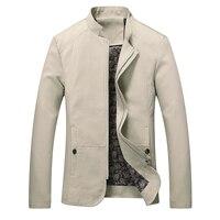 Người đàn ông Thời Trang Áo Jacket và Áo Khoác Hàng Mới 2017 Mùa Xuân Mùa Thu Nam Coats Đứng Cổ Áo Bán Hot Men Slim Fit Jackets Cộng Với Kích Thước 5XL
