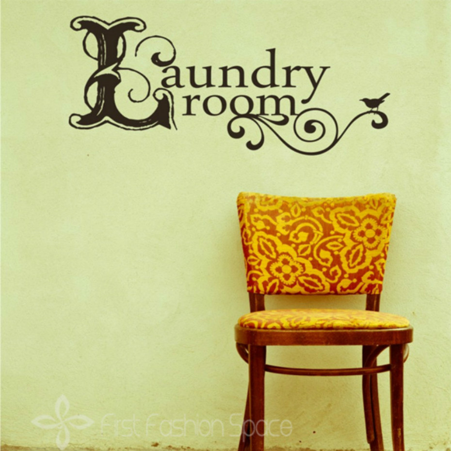 Laundry Room Vinyl Wall Decal Removable Wall Stickers Relaxed Wall ...