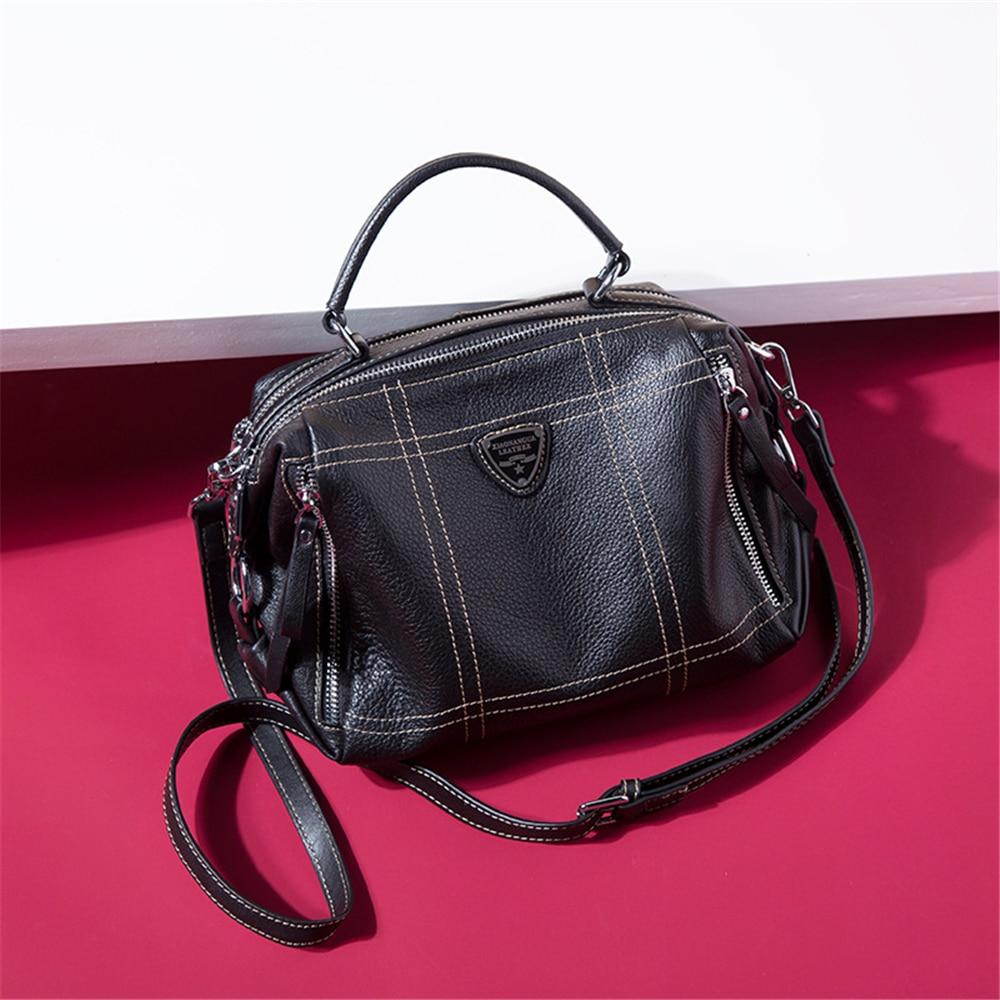Main Grande Sac Marque Arrivée Les Nouvelle Capacité Design Filles Bandoulière Pour Mode Lady De Black Totes Split À Cuir En Femmes 7xa6dPwqx