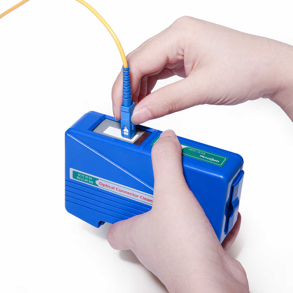 Оригинальный TCC-550 волоконно-оптический разъем очиститель оптическая кассета Чистый инструмент SC/FC/ST/LC/MU/PC/APC