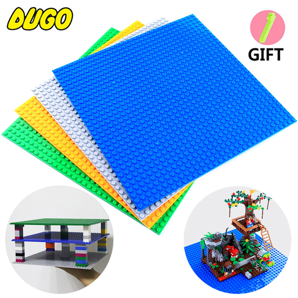Minecrafted 32*32 Dots Double Side Base plate Building Blocks Bricks Figures Toy Baseplates Compatible legos City Toys BasePlate new 2017 updated version small bricks base plate 32 32 dots 25 5 25 5cm 10x10 diy building blocks baseplate toy figures 14 col