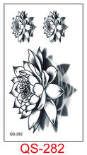 Waterproof Temporary Tattoo Stickers water lily fake Tattoo Geometric animal Flash Tattoo Hand Back Foot for Girl Women Men(China)