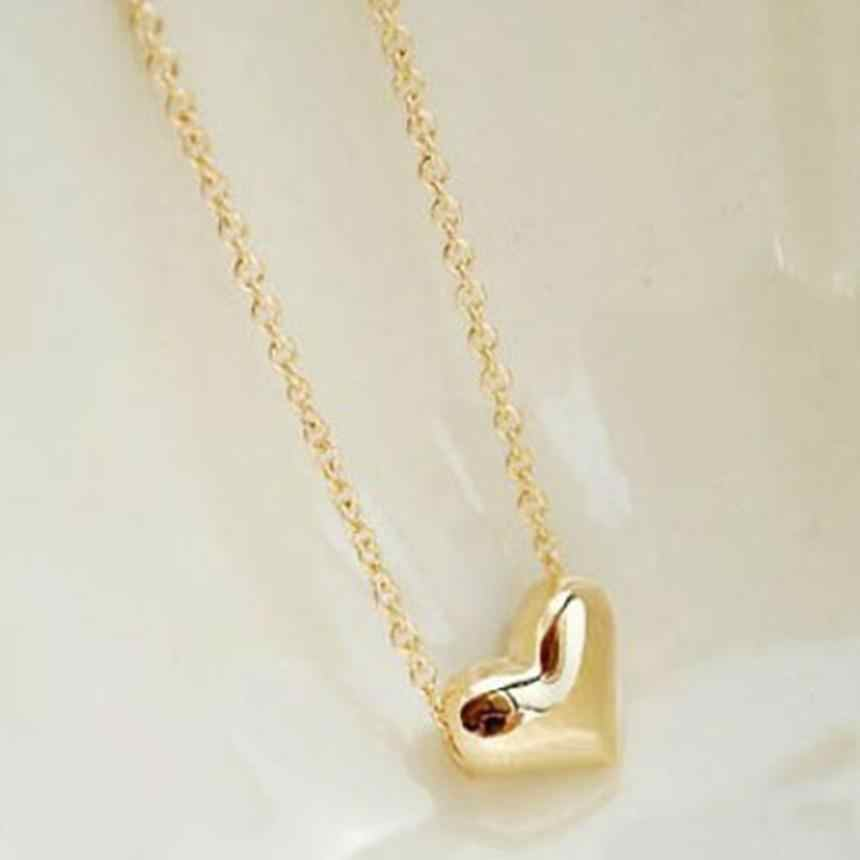 אופנה נשים שרשרת זהב לב ביב שרשרת הצהרת תליון שרשראות בציר תכשיטי אביזרי מעודן מומנט תכשיט
