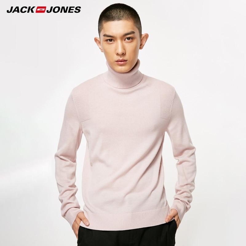 JackJones Autumn Winter Men  Slim Fit Knit Turtleneck Wool Sweaters|218325512