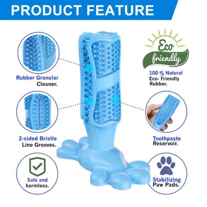 สัตว์เลี้ยงสุนัข Chew ของเล่นสุนัขแปรงสีฟันยางนุ่ม Pet Molar ทำความสะอาดฟันแปรงฟัน Stick Doggy Puppy ทันตกรรม Care Pet Supplies