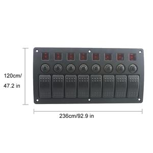 Image 5 - 8 Gang LED Boat Rocker Switch Panel Circuit Breakers DC 12/24V For Car Marine Steamship Yacht Motorhomes Trailer RV Camper Truck
