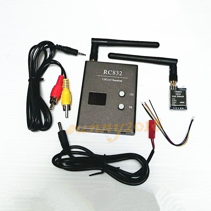 Boscam FPV 32Ch 5.8G Wireless AV Mini Transmitter TX TS5823 Receiver RC832 for FPV quadcopter boscam fpv 5 8g 5 8ghz 600mw 32 channels wireless a v transmitter and receiver ts832 rc832 tx