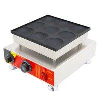New Dutch Pancakes Machine Iron Machine Baker Grill Maker Machine/Commercial Non stick 110v/220v Electric 9pcs Poffertjes Maker