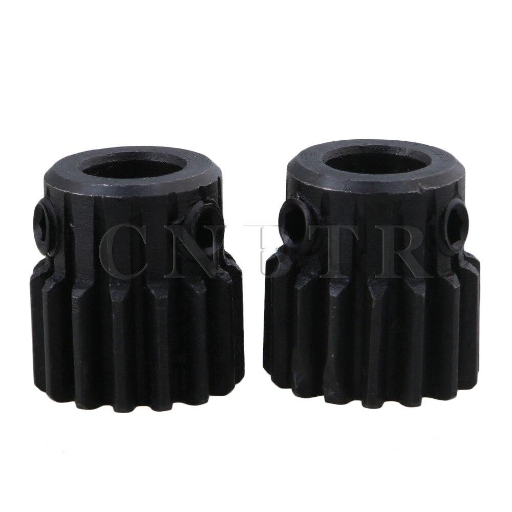 CNBTR 2pcs 45 Steel 8mm Hole Diameter Motor Metal Gear Wheel Top Screws or Hardware Wheel Screw diy 3mm 45 steel gear wheel motor 2 pcs