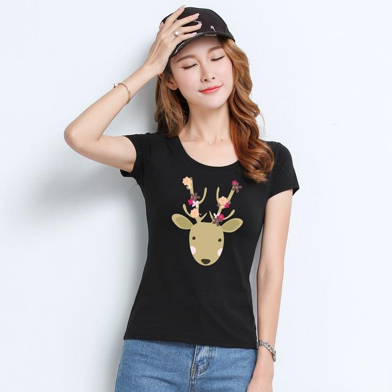 T Delle Donne Della Camicia di Nuovo t-shirt da donna 2018 vogue Vintage magliette delle donne del cotone O Collo Manica Corta V001