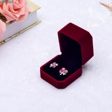 Fashion Velvet Engagement Wedding Earring Ring Pendant Jewelry Display Box Gift Ring Storage box Levert Dropship mar2