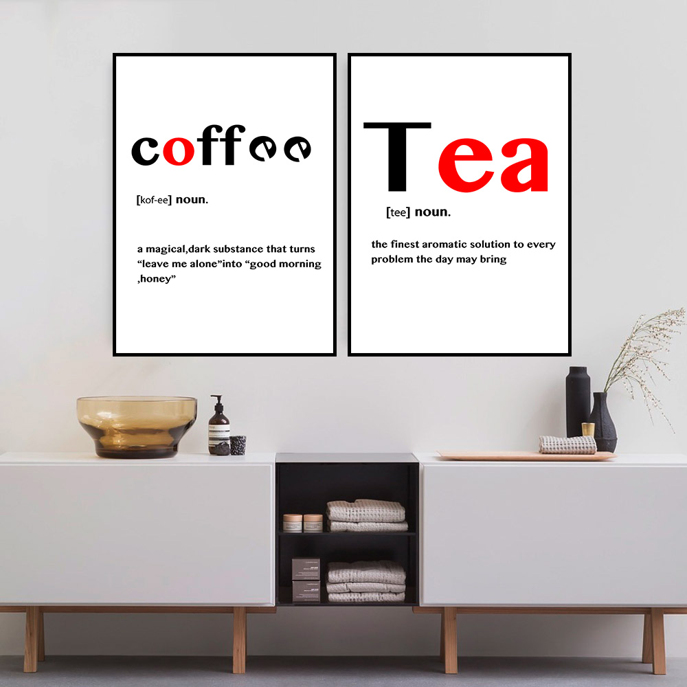 DPARTISAN Modern Black red White Food Coffee Quotes Posters Nordic ...