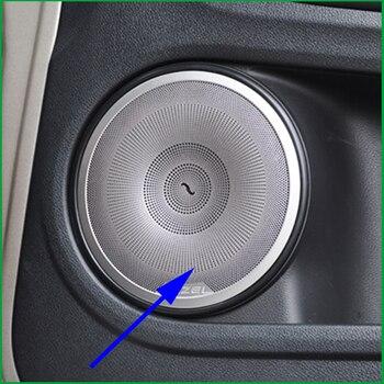For Honda HRV HR-V Vezel 2014-2016 Interior Door Speaker Ring Circle Sound Audio Speaker Sticker Molding Cover Trim Car Styling
