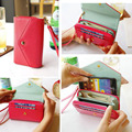 Wallets Fashion Lady Women Leather Clutch Purse Phone Wallet Short Bag Card Holder for iphone 4 5 6 6s