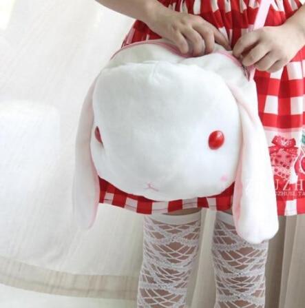 Amo Amuse Lop-ear Rabbit Shoulder Bag School Bag Lolita Cute Plush Toy Girl слингобусы ti amo мама слингобусы алба