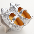 De alta Calidad de La Princesa Del Arco Del Bebé Niñas zapatos de Tacón Alto Zapatos Recién Nacidos Primeros Caminante Sapatos bebe Zapatos Del Banquete de Boda Niñas Bebé