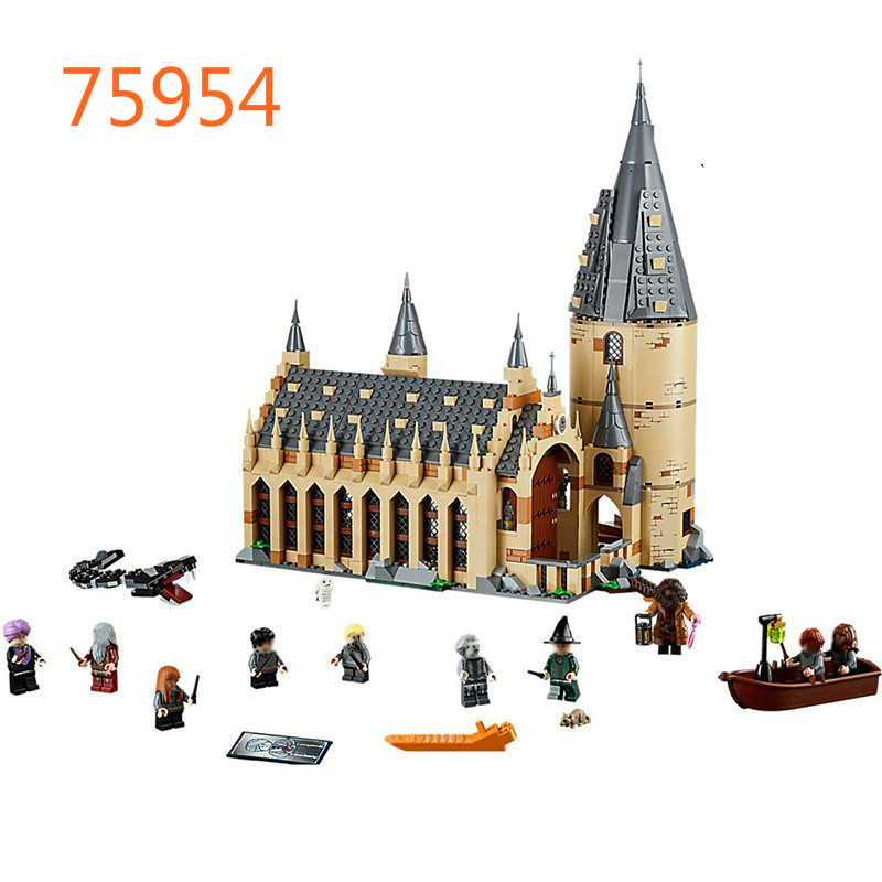 2018 New Harry Potter Hogwarts Great Hall Compatibility Legoing Harry Potter 75954 Building Blocks Bricks Toys Gift Christmas